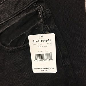 Free People Jeans - NWT Free People Distressed Black Ash Jeans 31